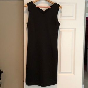 T Tahari LBD Sz8 midi, cross back sheath dress NEW